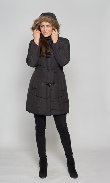 Womens Warm Padded Parka Coat
